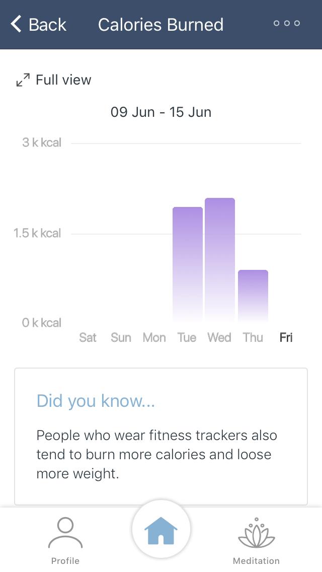 Calories Burned in app