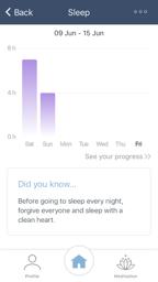 Set Sleep in app
