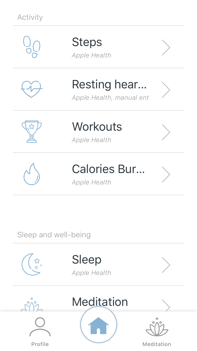 Menu Understand Your Body in app