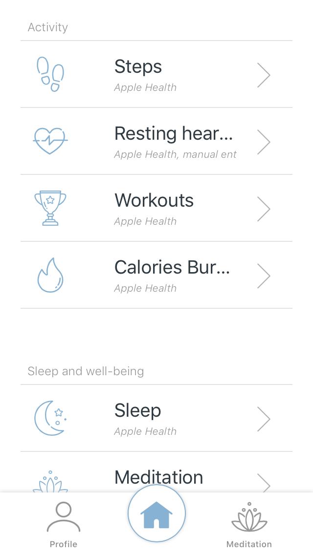 Menu Understand Your Body in app